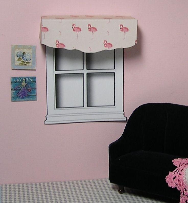 Miniature Dollhouse Furniture Window Cornice Pink Flamingo 1 inch scale    eBay