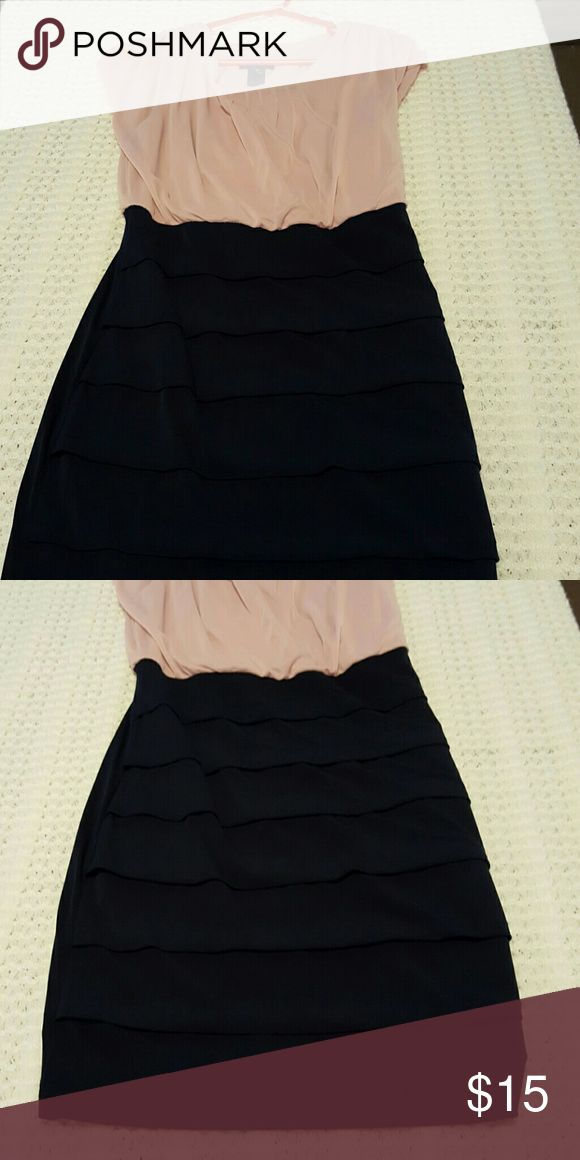 Night out dress Navy blue with light pink sections Dresses Midi