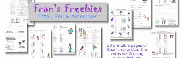 Frans Freebies Ser Estar Adjectives Plus tons of adjective activities!