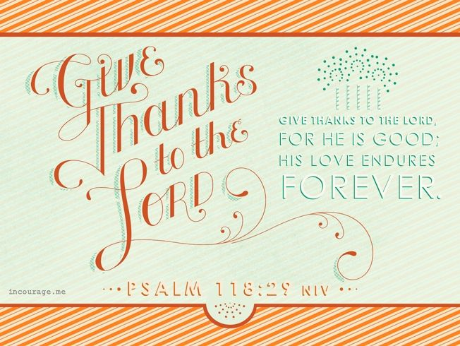 Give Thanks - Give Thanks - incourage.me