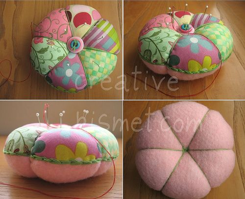 Patchwork Pincushion Tutorial - tutorial