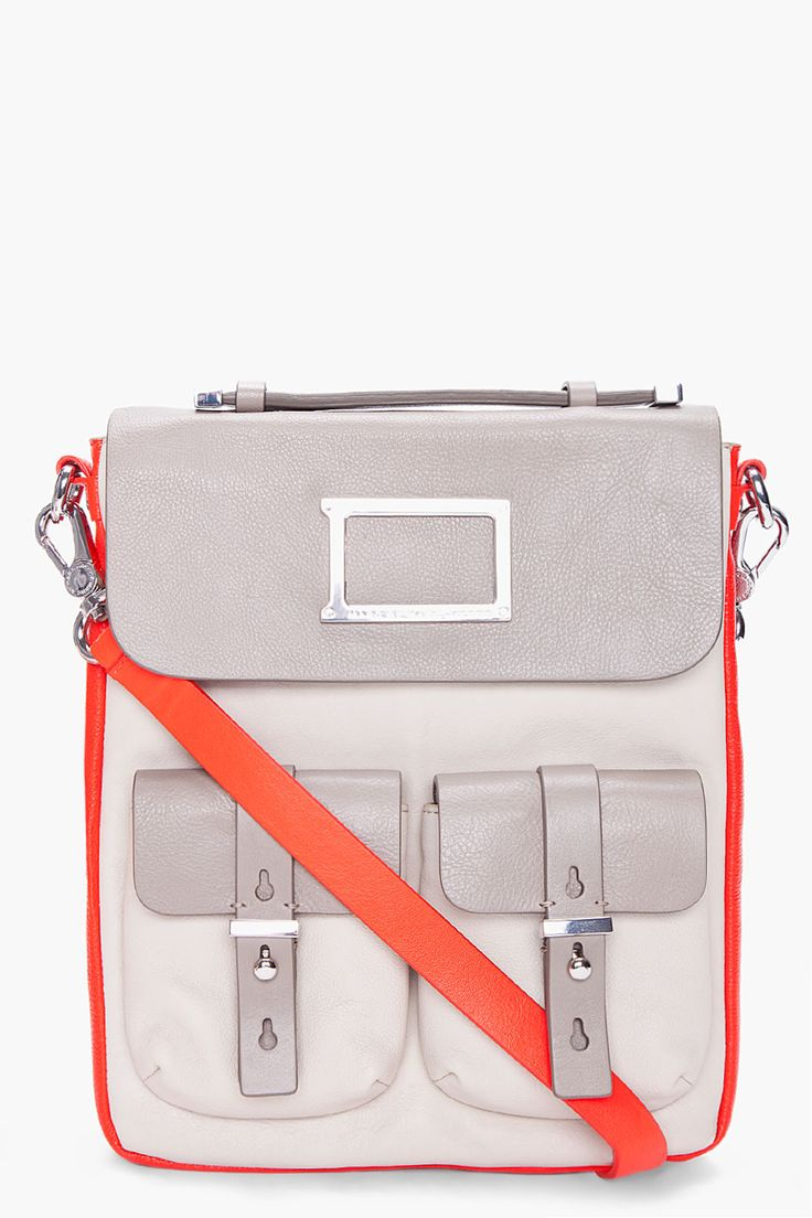 MARC BY MARC JACOBS - Shock Red iPad Messenger Bag