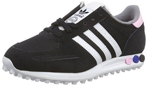 adidas Damen LA Trainer Sneakers, Schwarz (Core Black/Ftwr White/Clear Pink), 42 EU - http://on-line-kaufen.de/adidas/42-eu-adidas-la-trainer-damen-sneakers