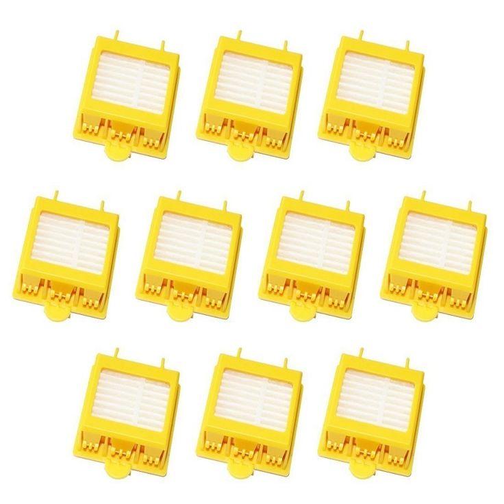 10 unids filtro hepa de reemplazo limpio herramienta kit de ajuste para irobot roomba 700 series 760 770 780 790 envío gratis