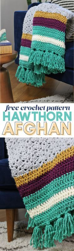 the hawthorn afghan - free crochet afghan pattern - make your own crochet blanket