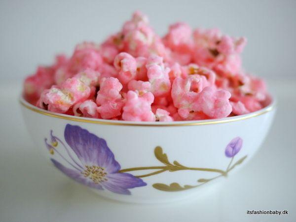 Opskrift på pink popcorn