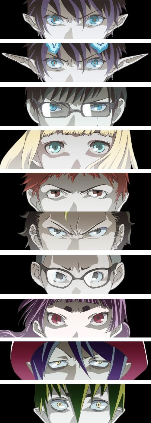 Blue Exorcist ~~ i consider this one of my animes to re-watch over and over again :P