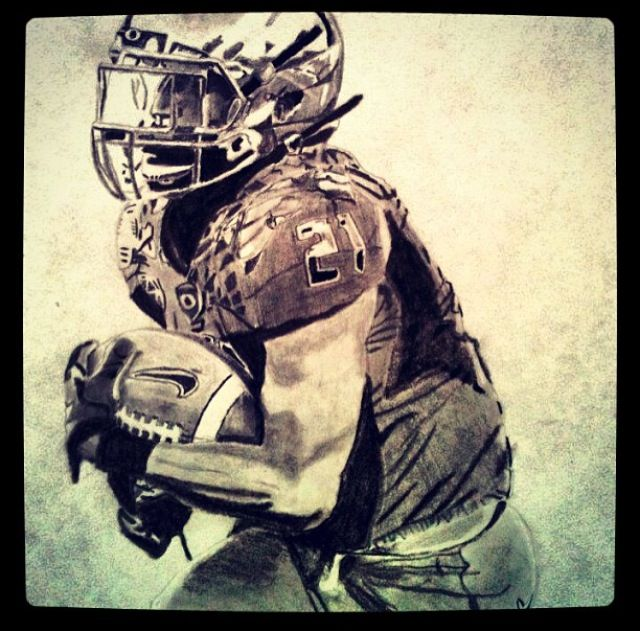 Lamichael James drawing. Oregon ducks football.