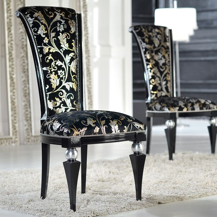 Luxurious And Elegant High Back Wood Dining Chair Made In