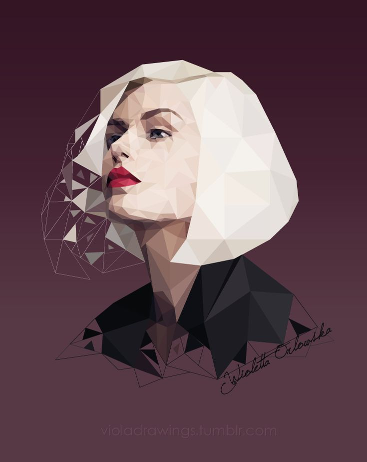 Illustrator work by me #low #poly #art #design #fashion #geometric #portrait #woman #lips #digital #graphic