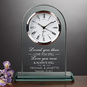Personalized Wedding and Anniversary Clock - I Love You - 15952 #valentine's #Coupons #gifts #love
