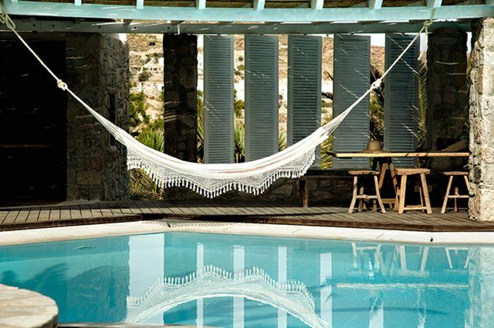 variante de hamaca en piscina