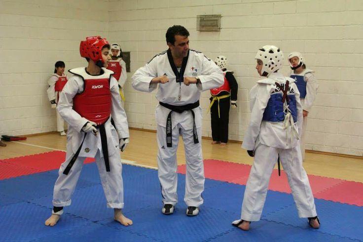 Taekwondo fight is Art
