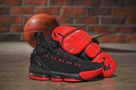 32bdf961c59 Nike LeBron 16 HFR Harlem s Black Red Men s Basketball Shoes