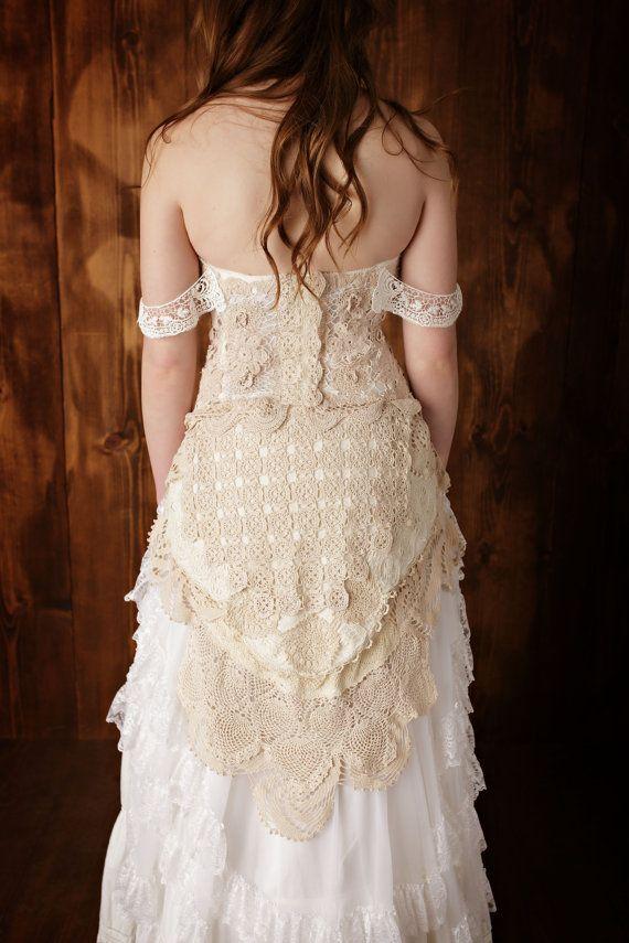 Botín de novia blanco, o con cinta, (Ivoire - Ecru), 37