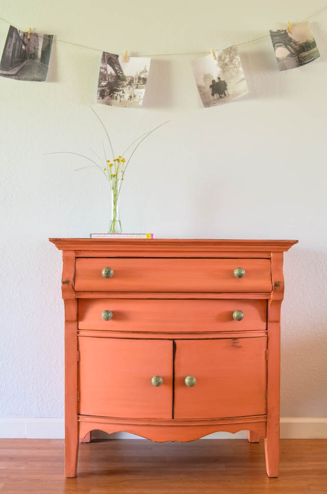 Vintage Hand Painted Dresser/chest of drawers/changing table.
