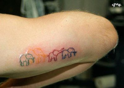 i want just one little elephant really tiny behind my ear
