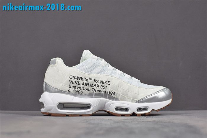 f0f71df895f Off-White x Nike Air Max 95 Mens Shoes White Silver 609048-109 For ...
