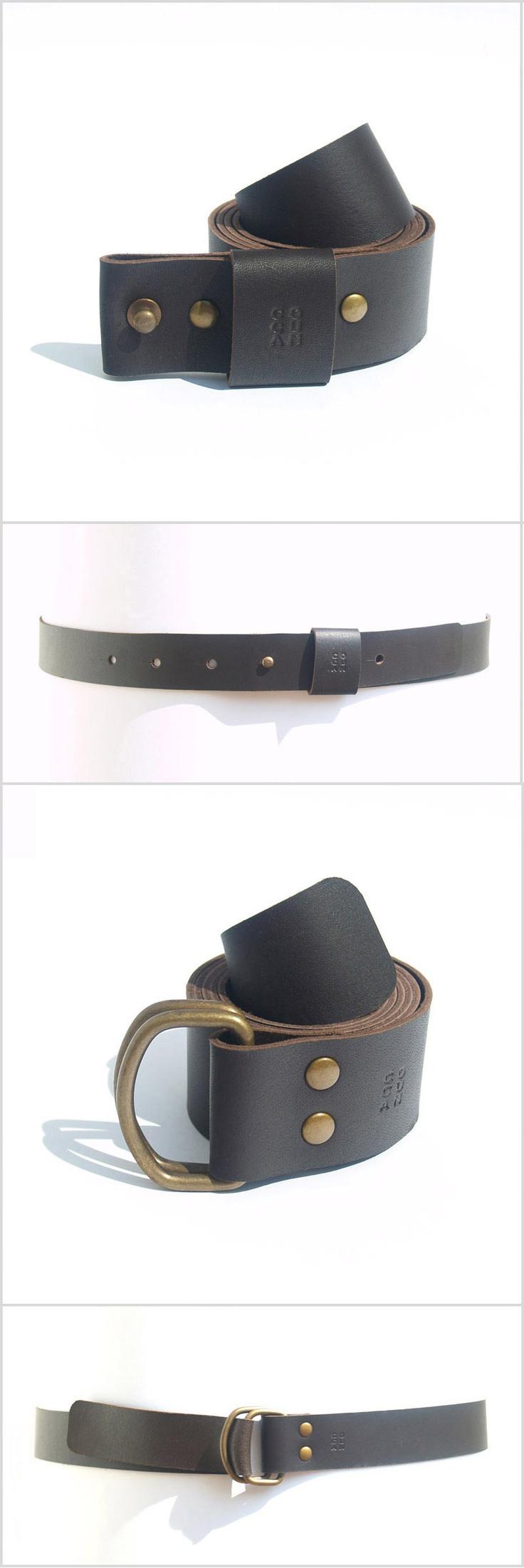 Cinturones cuero negro | Black leather belts - www.cocuan.com