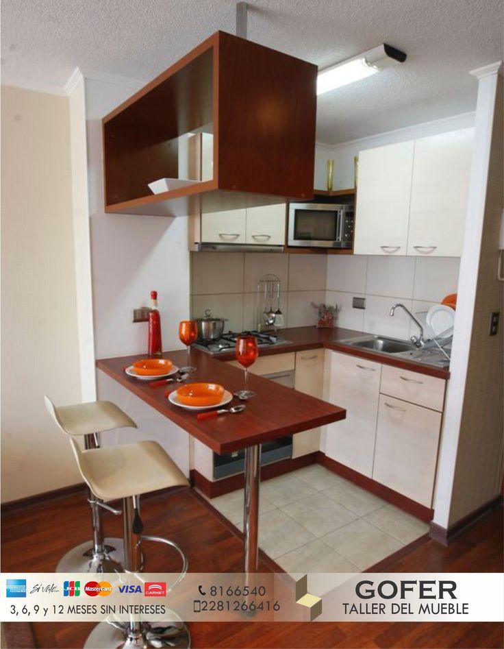 ¡Que una cocina pequeña no sea pretexto para tener un buen diseño del espacio! Somos arquitectos profesionales, ayudando a la mejora de espacios y aprovechamiento de estos.  Llámanos:  📞 8166540 📱 2281266416 Aprovecha ahora el método de pago con tarjeta 💳 y elige a 3,6 y 12 meses. ¡SIN INTERESES! #AmueblandoTuVida #Gofer #Muebles #Cocinas #Taller #Carpintería #Diseño #Arquitectura #Mobiliario #Hogar #Xalapa #Coatepec #Veracruz #Mexico