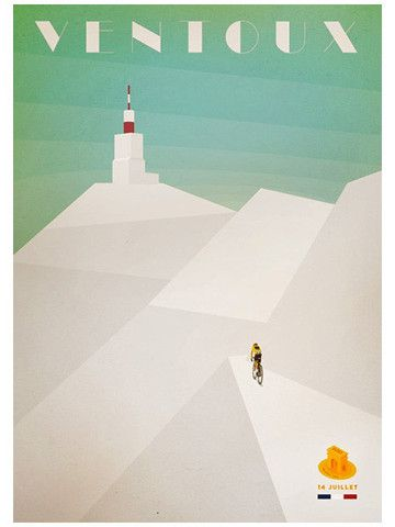Mont Ventoux finish - Cycling Poster - Emma Felton - Cycling Photography & Gifts