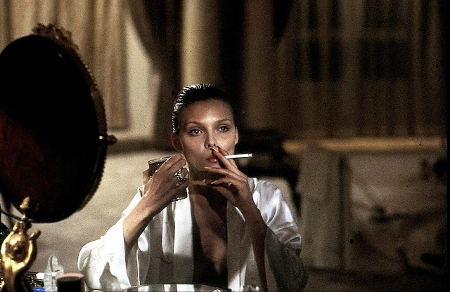 Scarface (1983)  Directed by Brian DePalma.  photo:Elvira/Michelle Pfeiffer