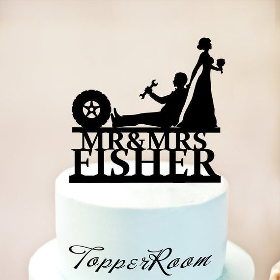Personalised Acrylic Mechanic Lorry And Truck Garage Maintenance Engineer Technician Birthday Cake Topper Decoration
