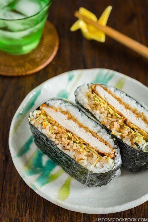 Chicken Katsu Onigirazu | Easy Japanese Recipes at http://JustOneCookbook.com