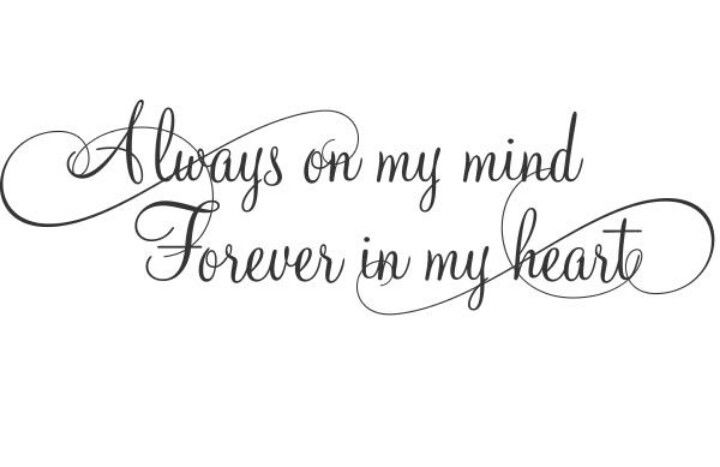 sempre na minha mente, para sempre no meu coração