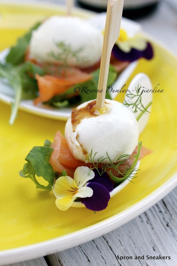 Apron and Sneakers - Cooking & Traveling in Italy and Beyond: Mozzarella, Salmon & Arugula Appetizer