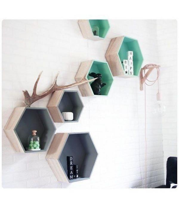 Mevrouw Aardbei hexagon wandkastjes
