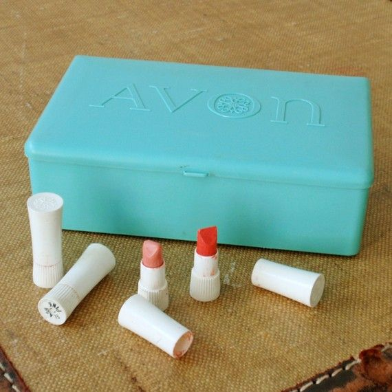 Avon lipstick samples. I loved these!  Mom would meet with her Avon Representative, choose a couple or few samples, took them home and then ended up giving me many for my own!!