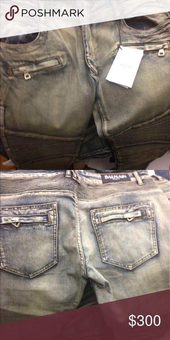 Balmains Size 38 , purchased from BARNEYs in ny                          #bape # true religion # embellish # bathing ape #robin jeans #bape # true religion # embellish # bathing ape # ferragamo # Gucci # ax # lv # goyard # Jordan # vlone # supreme #vlone Balmain Jeans