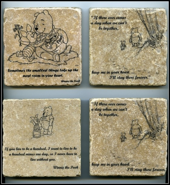 Winnie The Pooh Quote Art: Copious: Winnie The Pooh Quote Wall Art Tumbled Tile