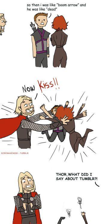 """Thor ships Clintasha. but my favorite part was """"I was like 'boom arrow' and she was like 'dead'"""""""