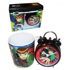 Ben 10 Gift Set - Alarm clock and mug set.  Ben 10 themed gift set, perfect for those plumber wannabe's :)