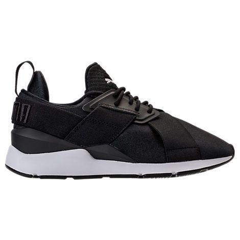 PUMA WOMEN'S MUSE SATIN EP CASUAL SHOES, BLACK. #puma #shoes #