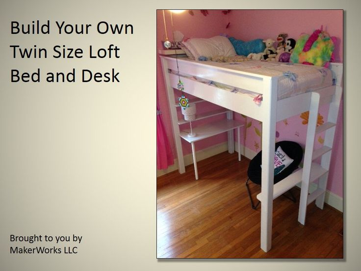 Twin Size Loft Bed and Desk Plans and Instructions by TobaccoRoadGuitars on Etsy https://www.etsy.com/listing/174823614/twin-size-loft-bed-and-desk-plans-and