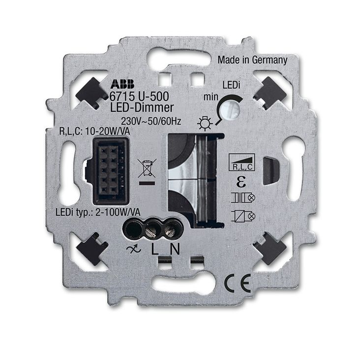 ZigBee Light Link LED-dimmer insert For switching and dimming electric loads via radio control. - Busch-Jaeger Online-Catalogue 2016