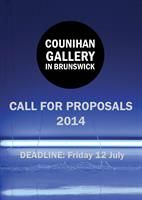 Closing soon! Applications for 2014 Exhibition Program at the Counihan Gallery