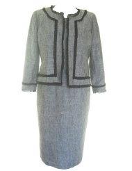 KASPER Versatile Jacket/Dress Suit-GREY-6