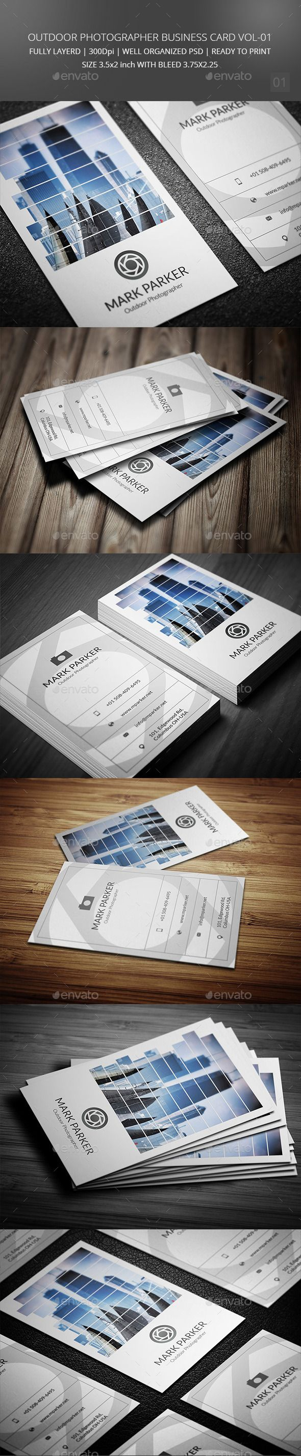 Best 25 photographer business cards ideas on pinterest outdoor photographer business card vol 01 magicingreecefo Image collections