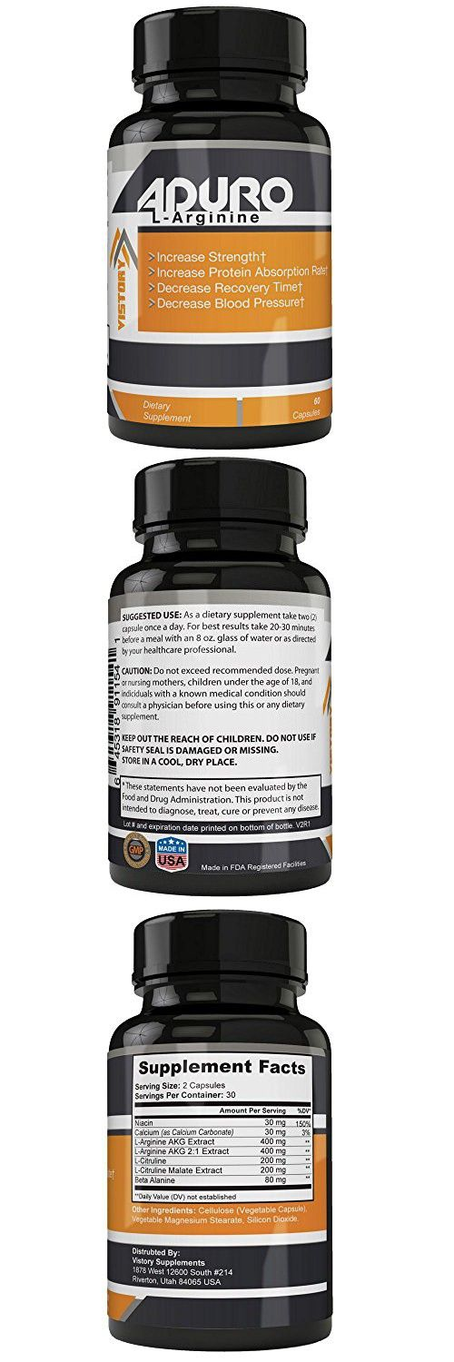 Aduro L-Arginine, Nitric Oxide Supplement 30 Capsules | Improve Muscle Building Growth, Increase Protein Absorption & Promote Healthy Heart | Nitric Oxide Pills For Great Workouts & Ameliorated Libido