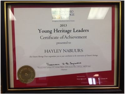 Hayley Nabuurs Recognized With Ontario Heritage Trust Award, Lang Pioneer Village Museum, Village Vignettes Blog