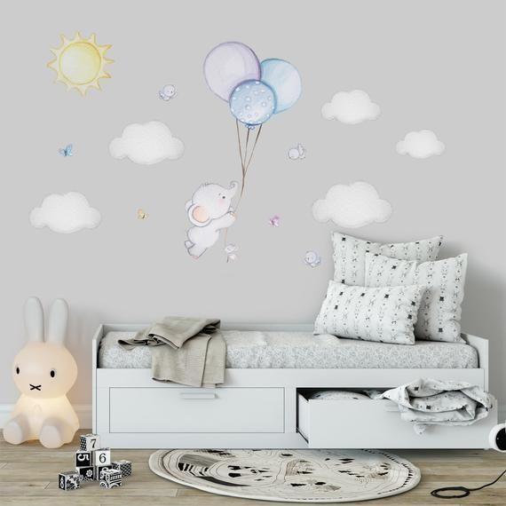 Elefant Kinderzimmer Wand Aufkleber Ballon Kinderzimmer