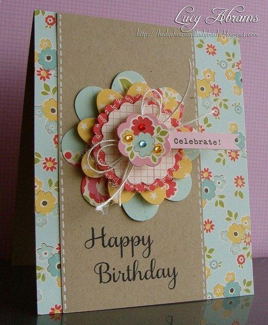 love the flower - handmade card