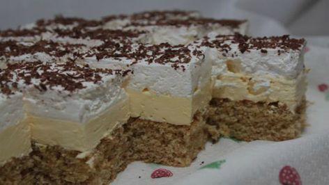 Jemný luxusní krémový dort s mletými ořechy a skvělou chutí!   Milujeme recepty