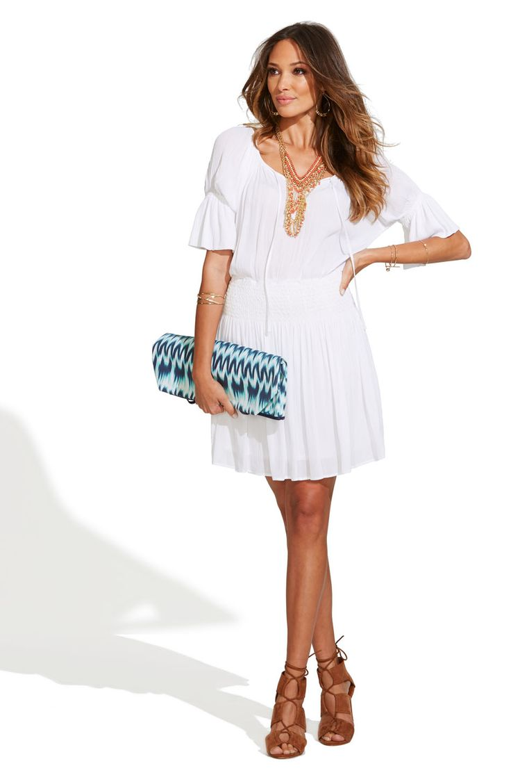The Gauze Peasant Dress.