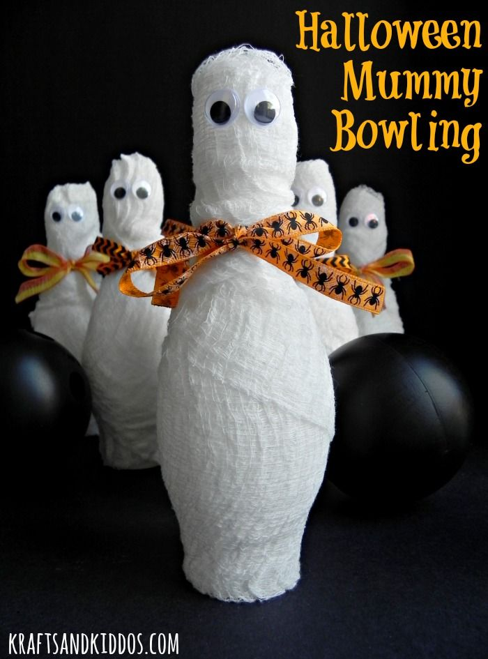 Halloween Mummy Bowling by Krafts and Kiddos - kids LOVE this game!