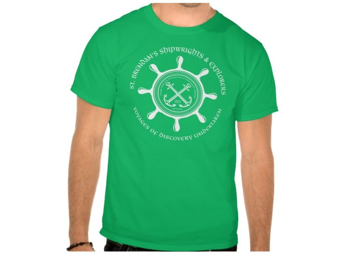 Saint Brendan's Shipwrights, Style is Basic T-Shirt, color is Kelly Green